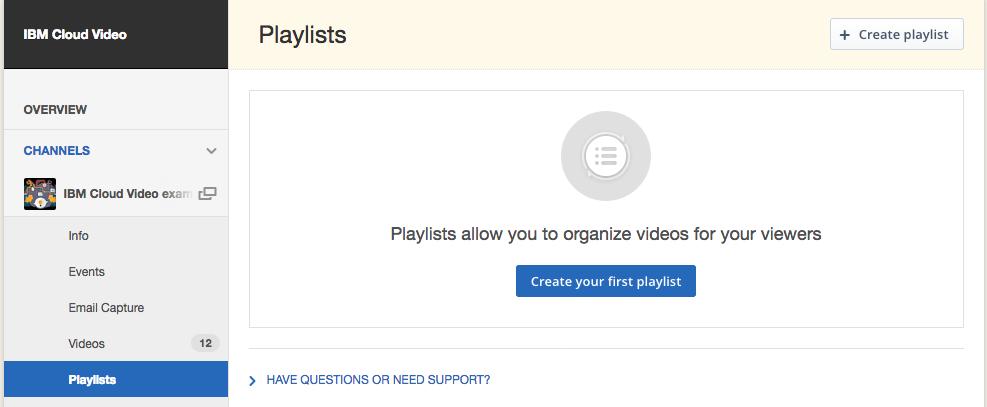 Creating a Video Playlist – IBM Watson Media