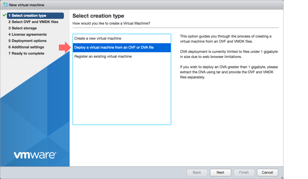 Select creation type