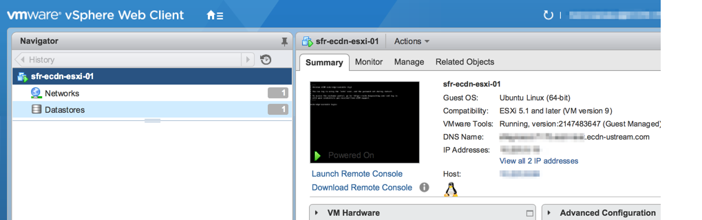 Virtual machine launched